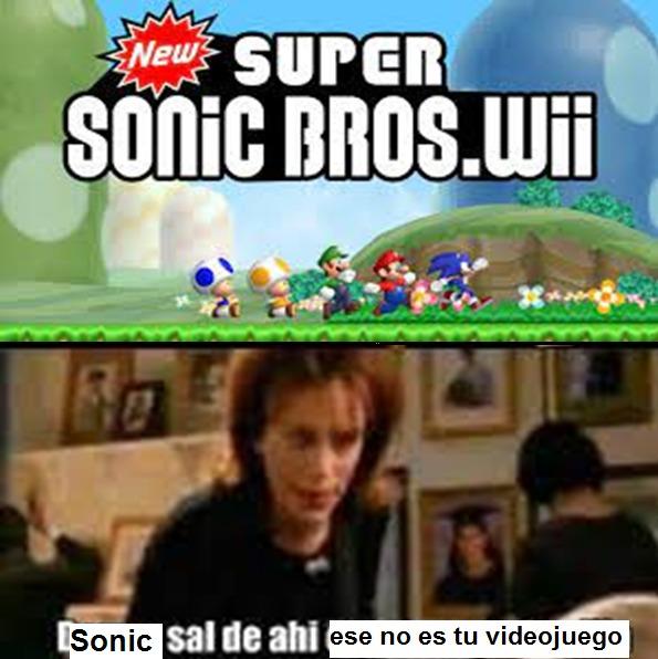Sonic En Mario Bros - meme