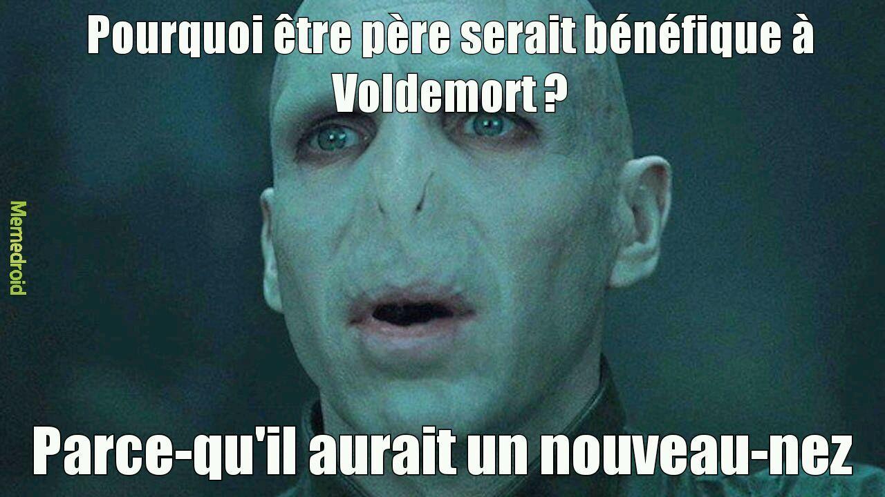 Voldemort et son nez - meme