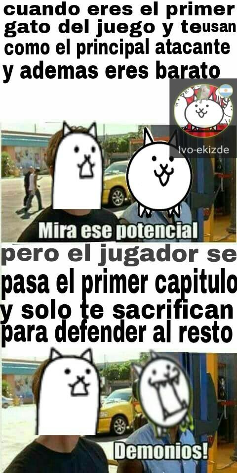Meme de the battle cats,si no entienden juegen al juego,se lo recomiendo :D