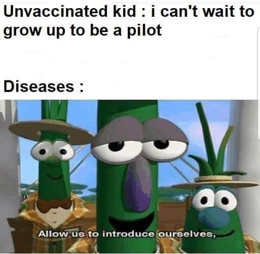 Anti vaxxx death - meme