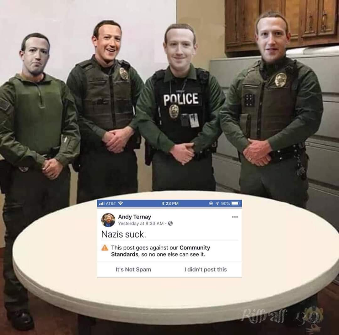 Nazis suck the zucc - meme