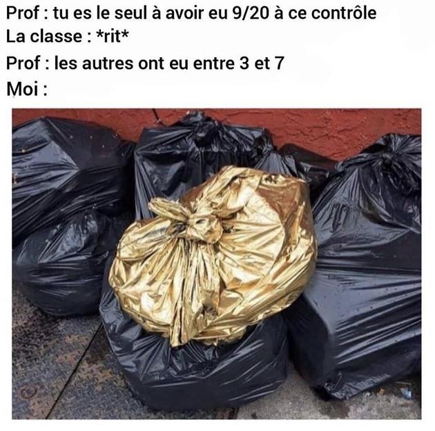 """""""Le titre est parti mettre les poubelles gnngngn"""" - meme"""