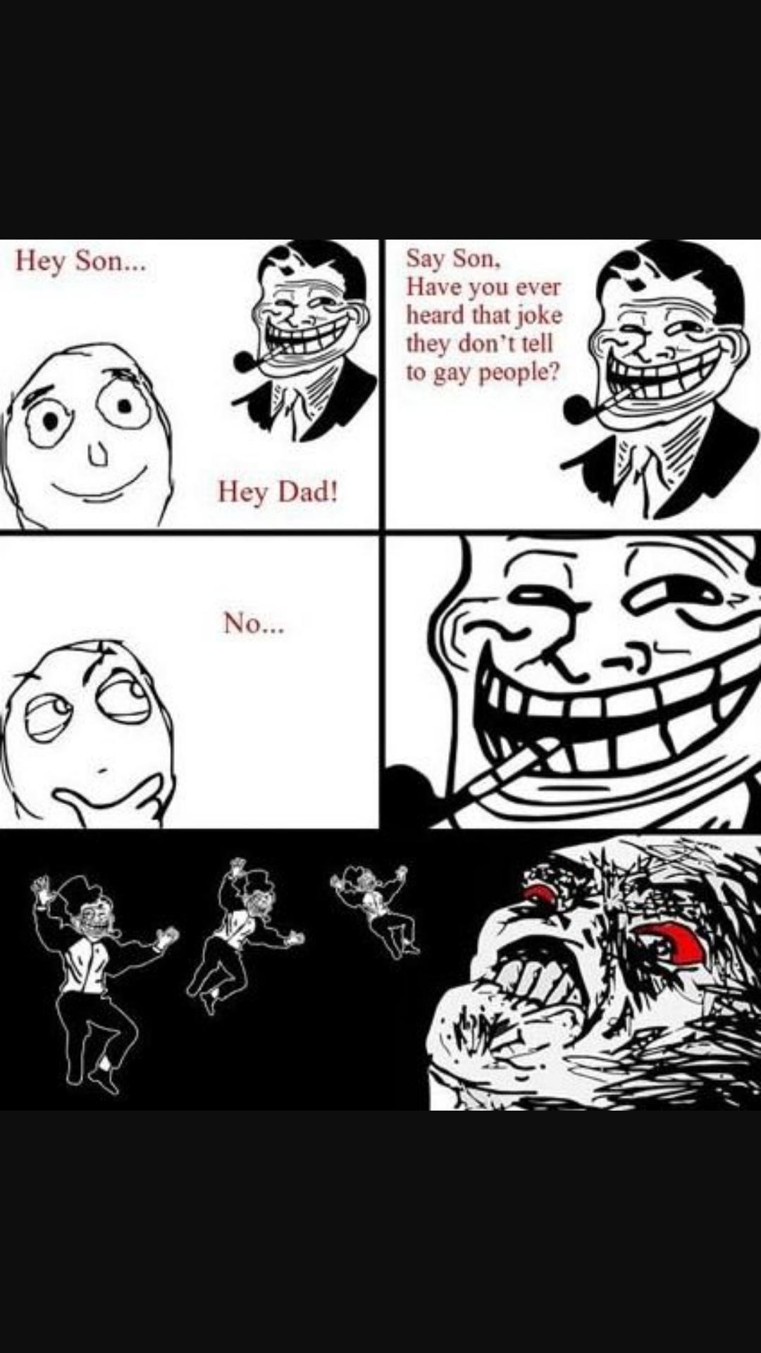 Troll Dad, y u do dis *sniff sniff* - meme