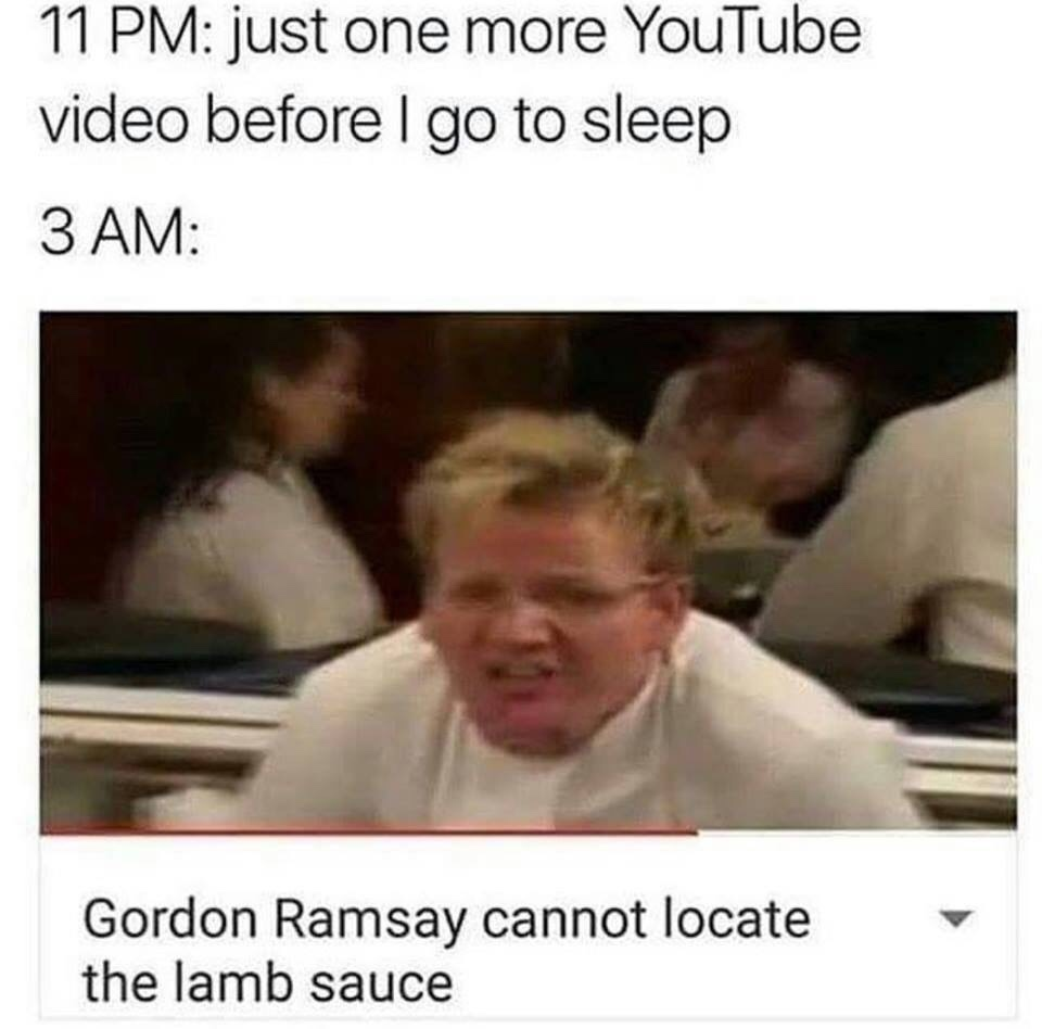 Gordon Ramsay cannot locate the lamb sauce - meme