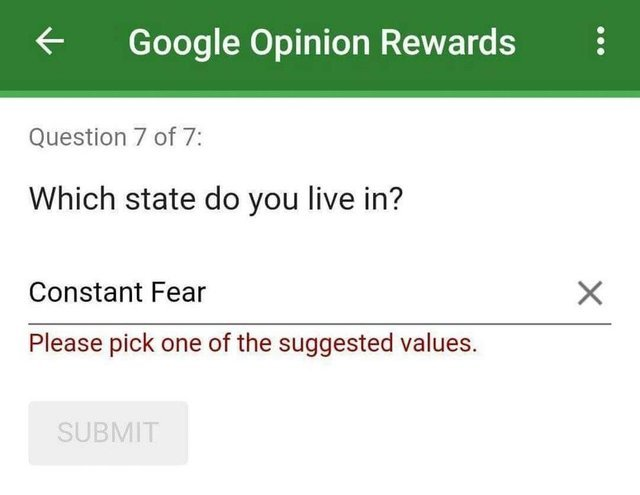 I live in a Constant Fear state - meme