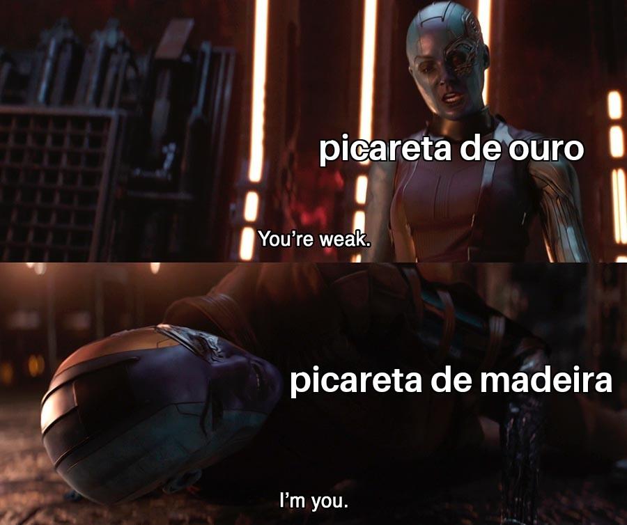 Foda-se o título (EU VOLTEI GARAI KK) - meme