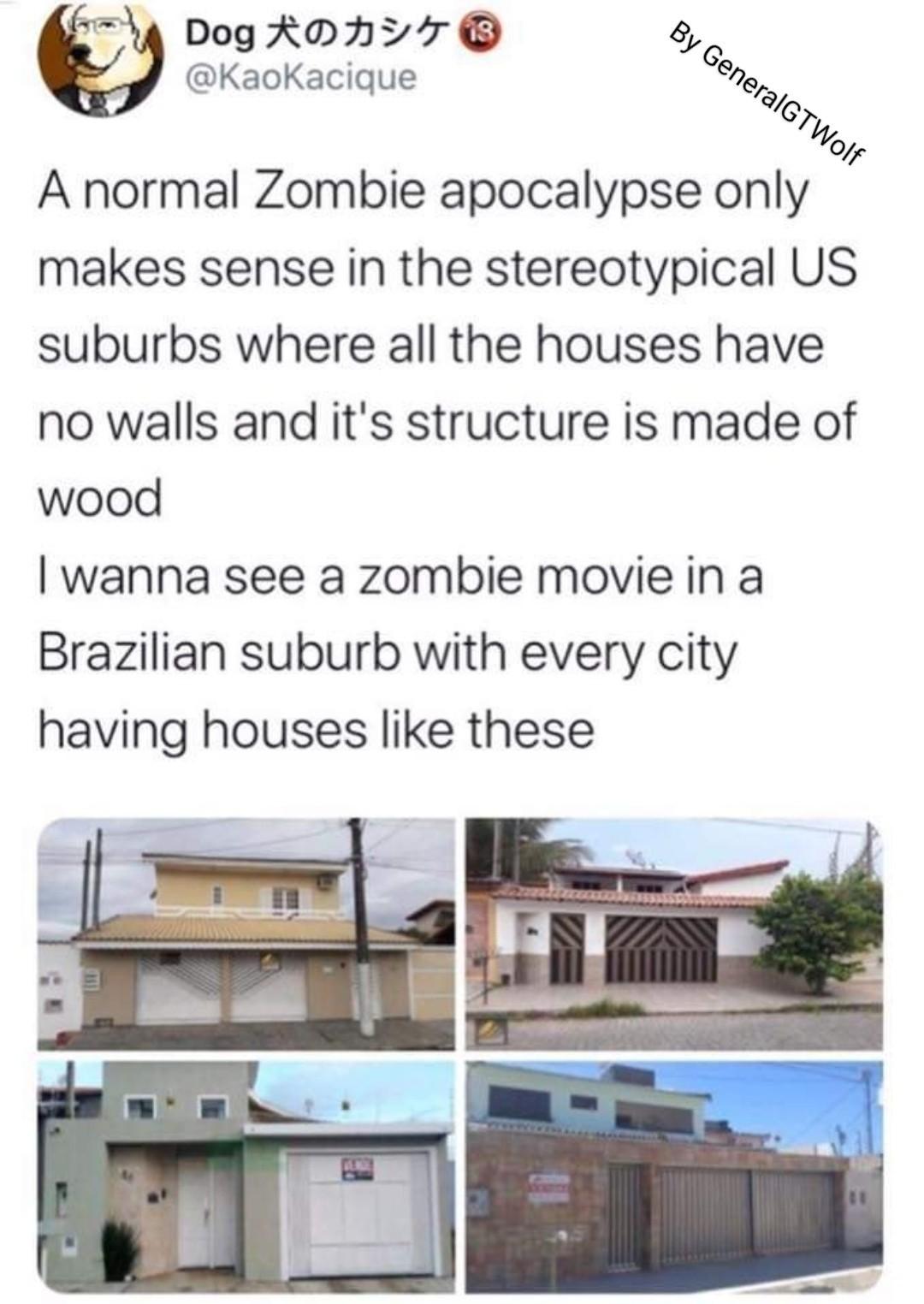 Imagina os zumbi colando lá na favela... - meme