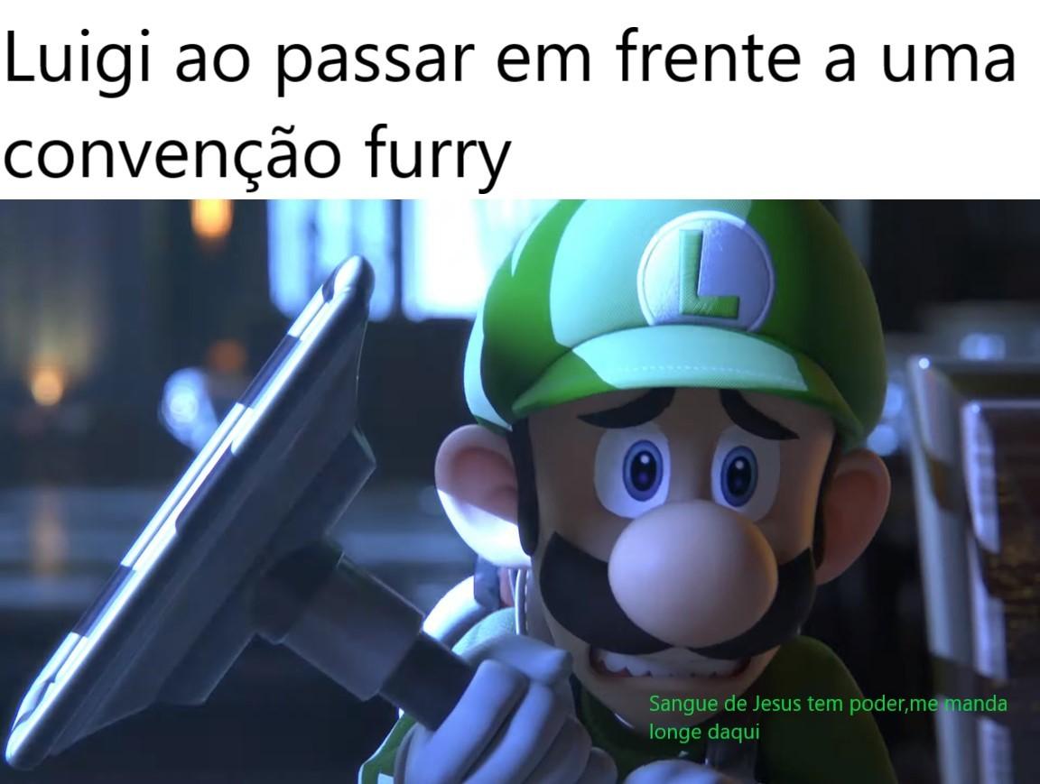 TIREM O LUIGÃO DE LÁ!!! - meme