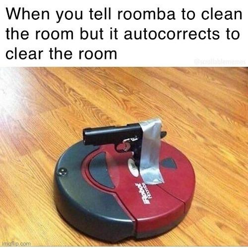 Armed Roomba - meme