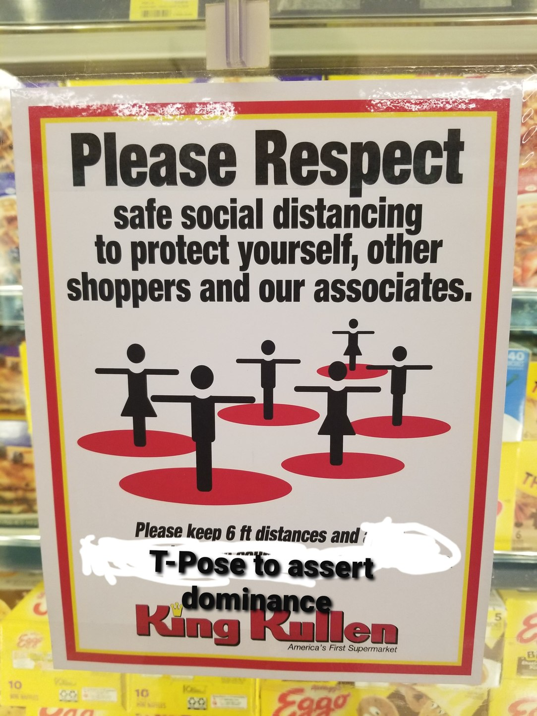 If you start T-posing I'm sure others will avoid you - meme