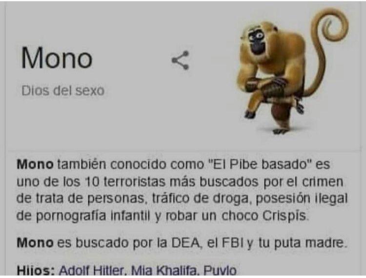 Chota de mono (no lo acepten) - meme