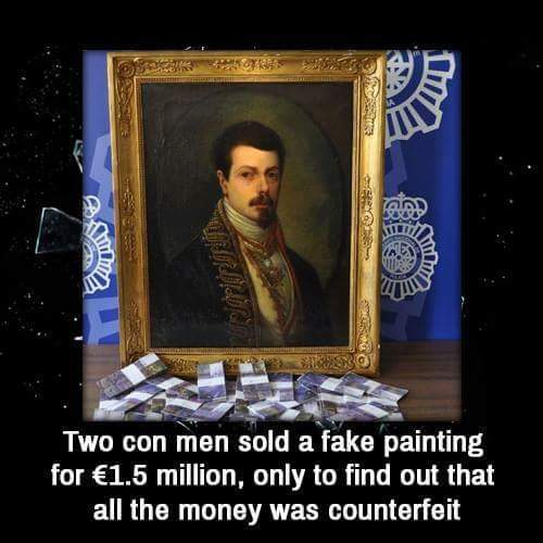 When con artists get conned - meme