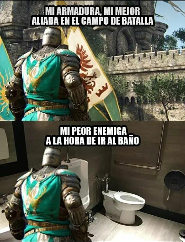 A la guerra, y luego al baño - meme