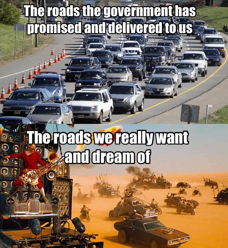 MuhRoads vs My Roads - meme