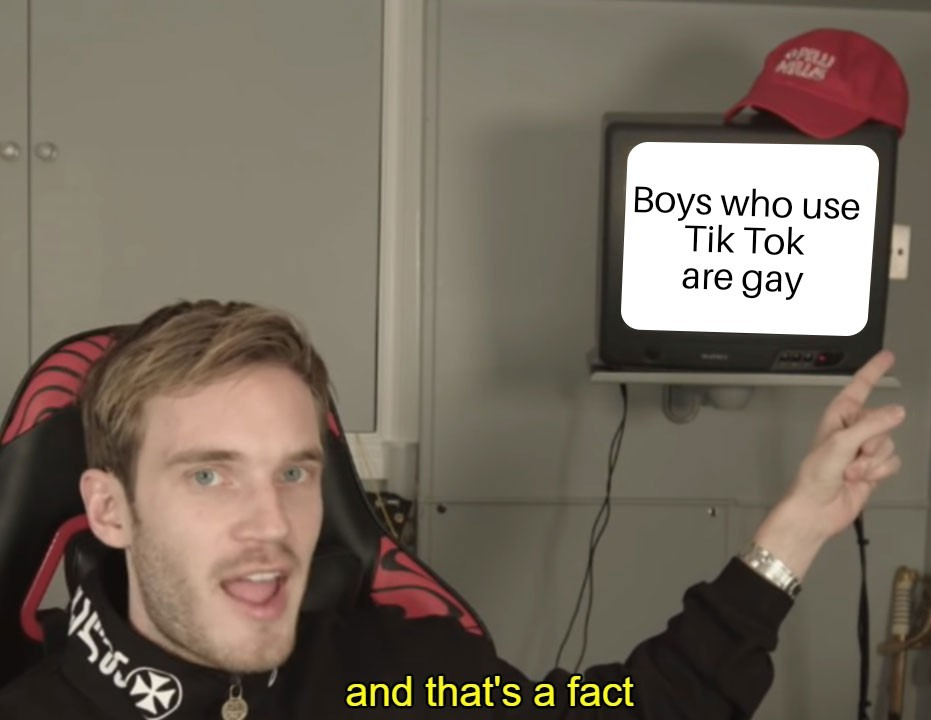 Pewdiepie knows the fact - meme