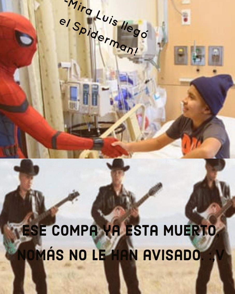 el Spiderman no le ha avisado. - meme