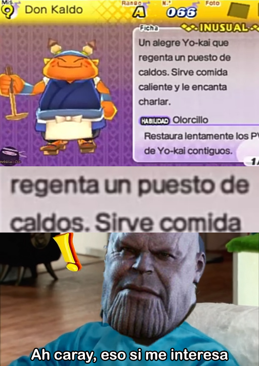 Thanos esta interesado - meme