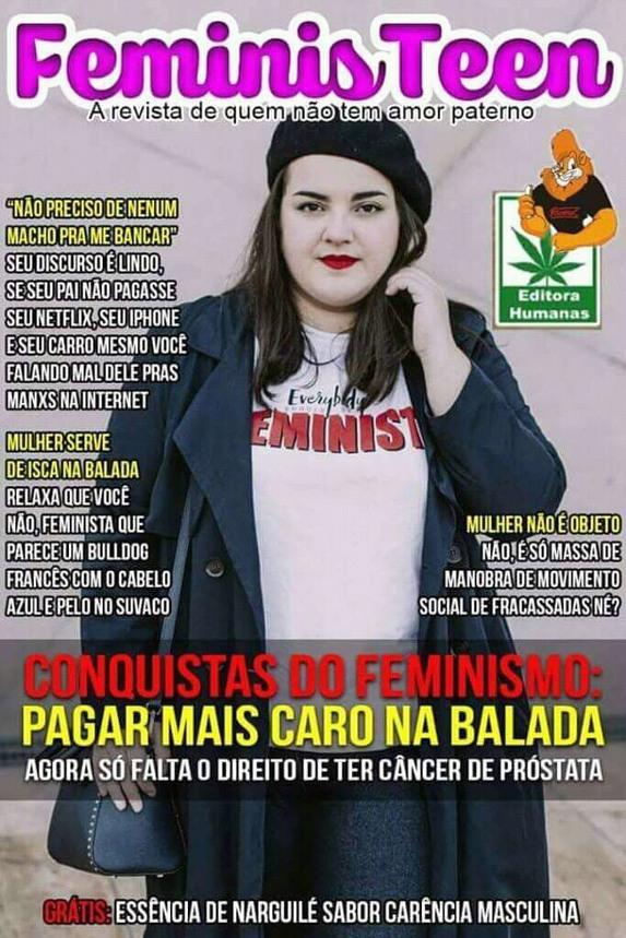 O feminista só começa a partir dos 75 quilos - meme