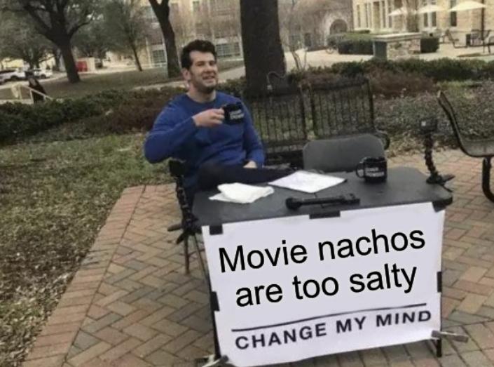 Too salty - meme