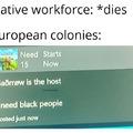Ah, the transatlantic slave trade