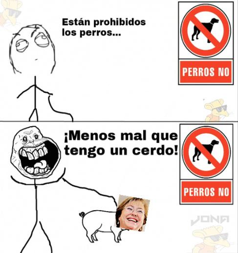 Bachelet (Presidenta de Chile) - meme