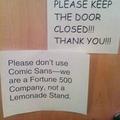 comic sans!!!!