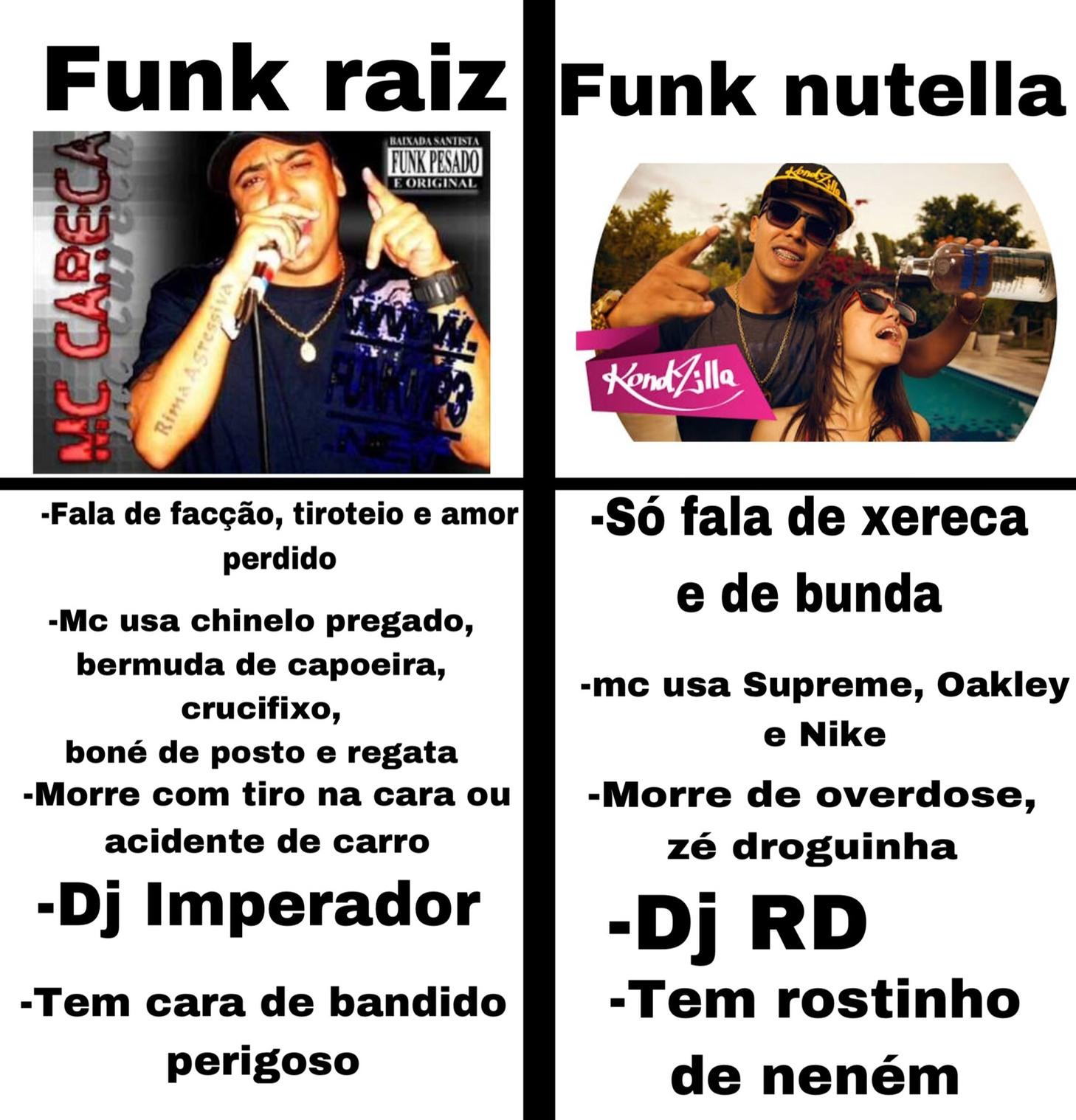 Eu nunca gostei de funk, mas antes sinalizava um lugar de alto risco - meme
