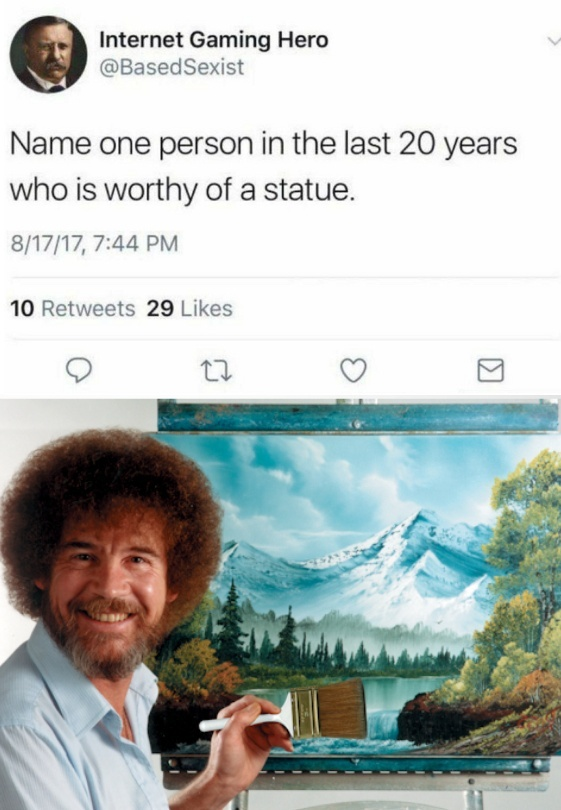 Bob Ross is the boss - meme