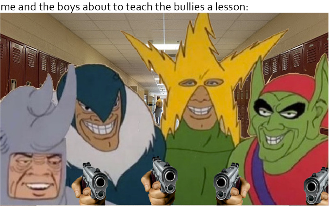 they all are holding a gUn - meme