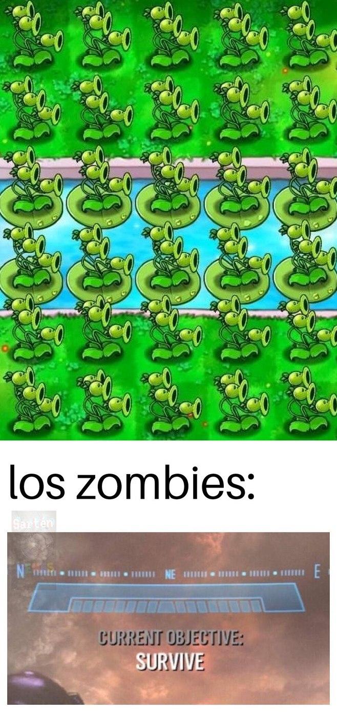 Los zombis: ya valió madres - meme