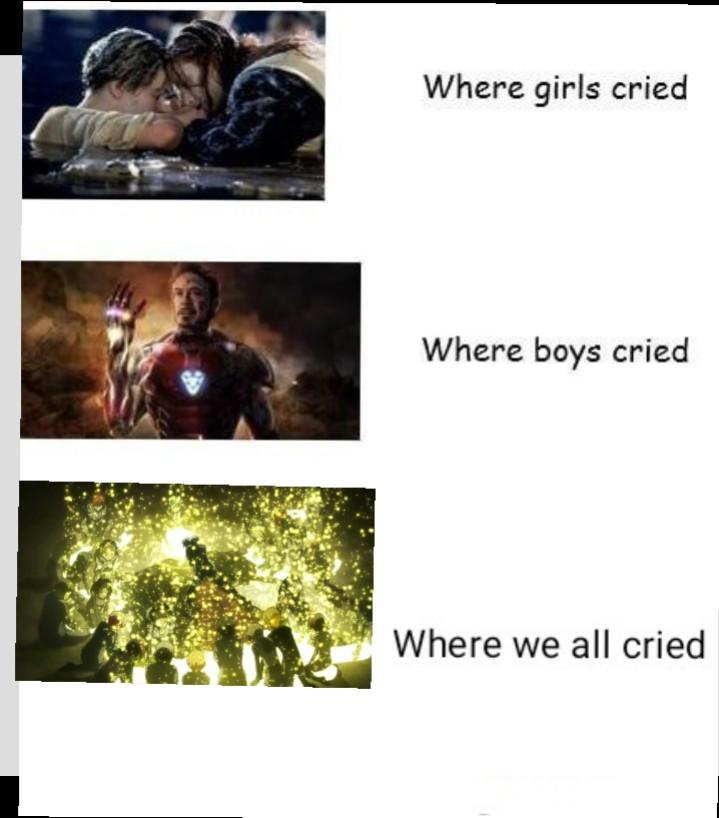 I'm not crying, my eyes are sweating - meme