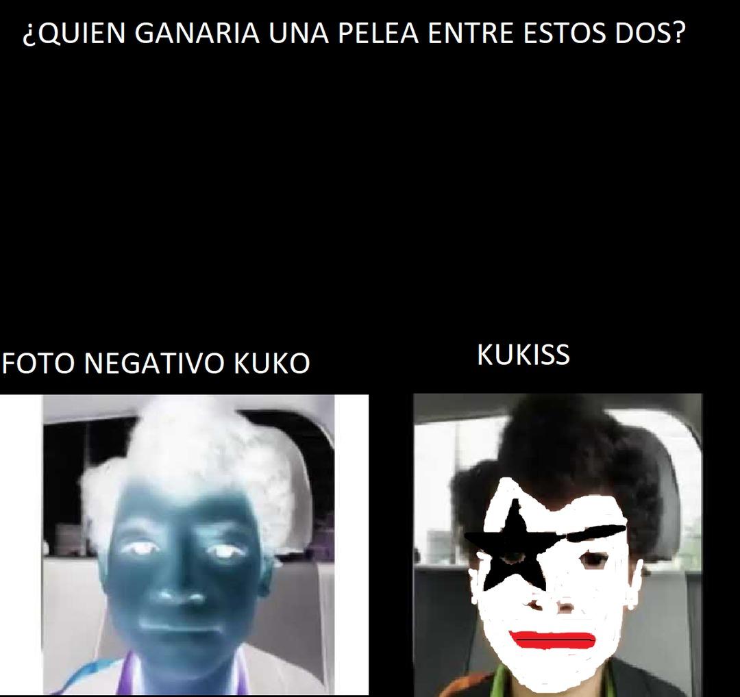 Elijan en los comentarios quien ganaría en una pelea a muerte entre estas dos versiones de Kuko - meme