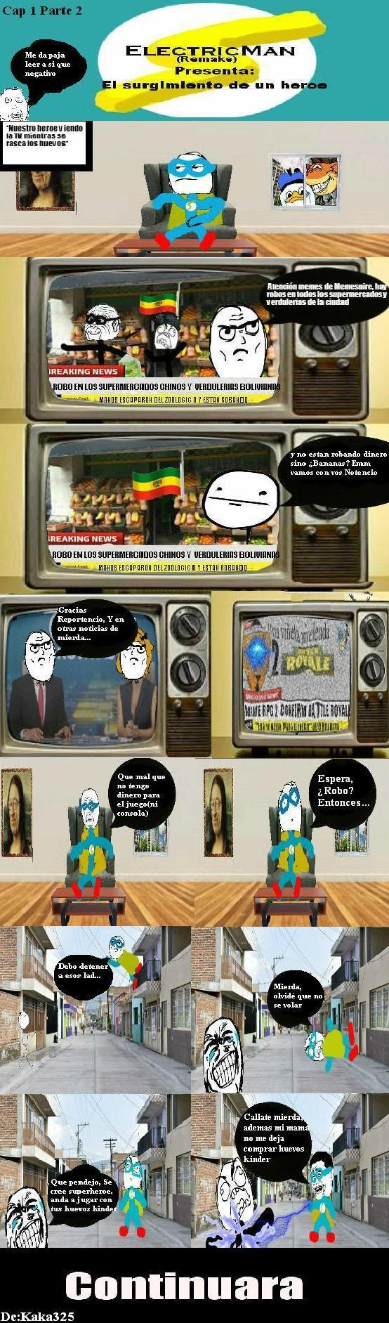 Electricman:El surgimiento de un heroe(Cap 1 Parte 2) - meme