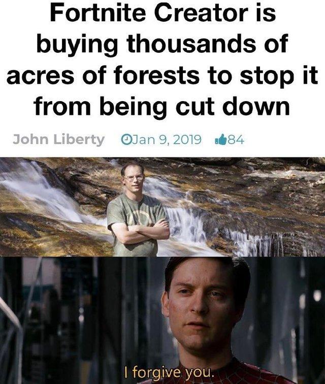 Fortnite Creator is a nice guy - meme