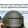 I worked at FedEx