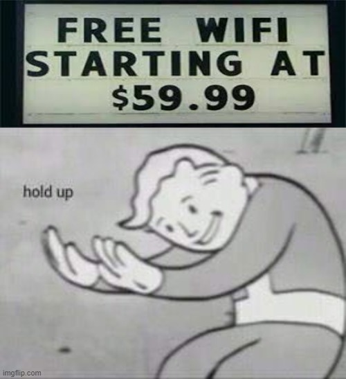 Free wifi? I will take it - meme