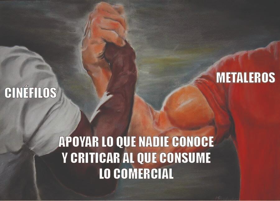 cinefilos vs metaleros - meme