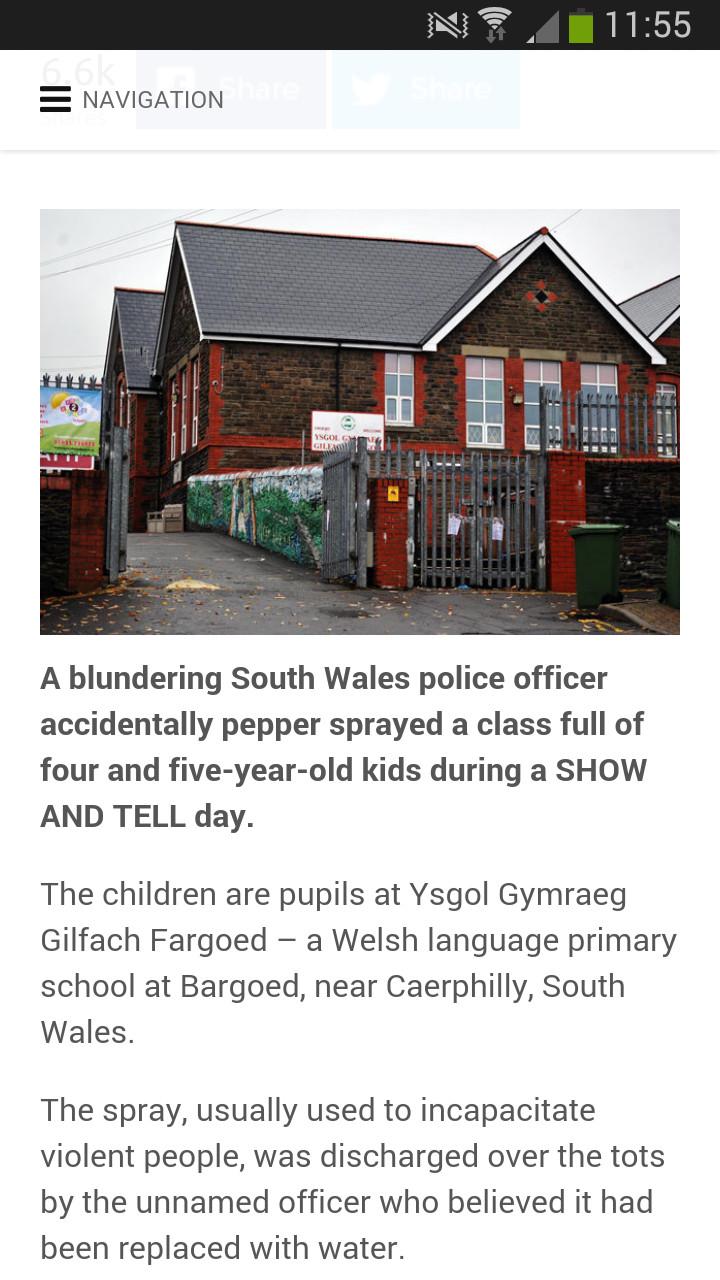 Police officer pepper sprayed 4-5 year olds - meme