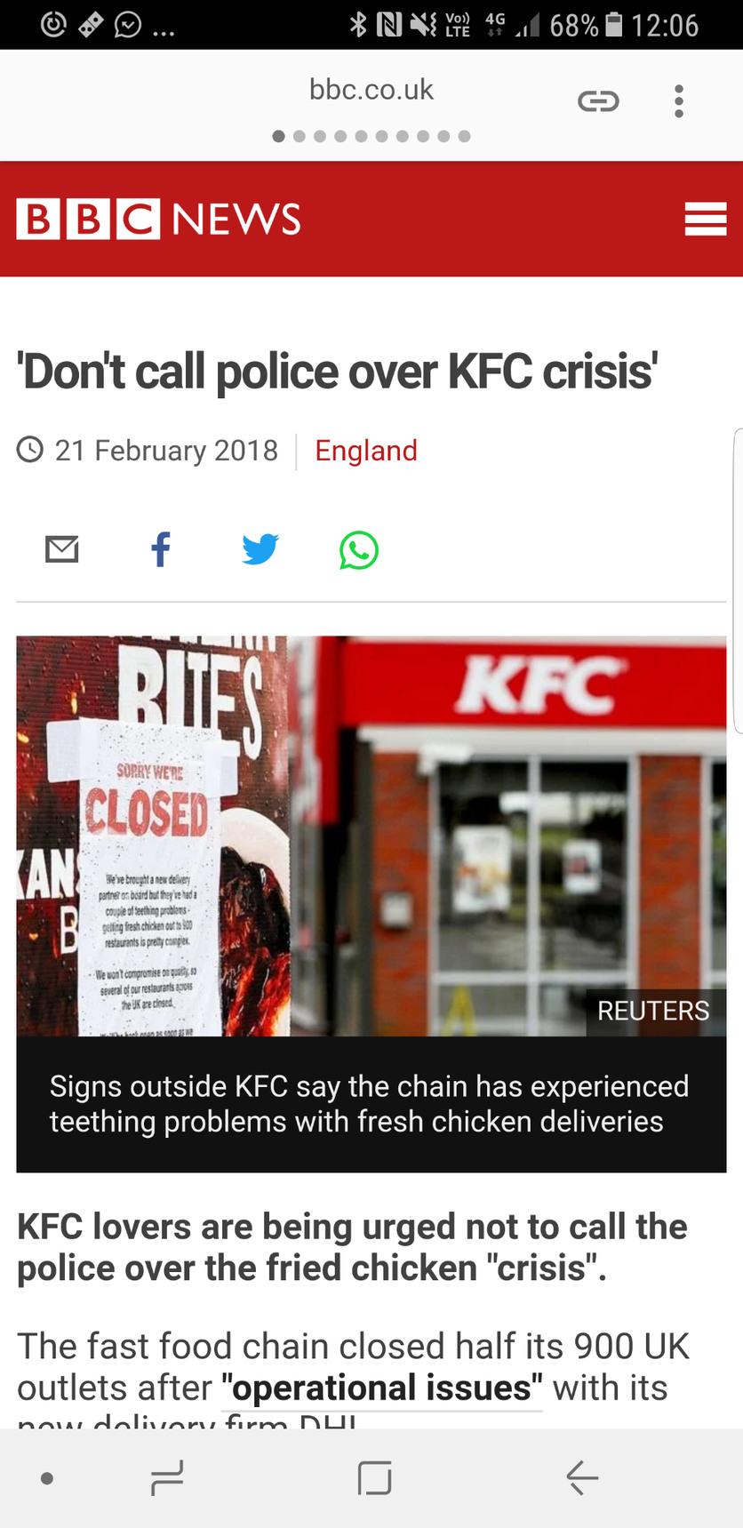 KFC crisis - meme