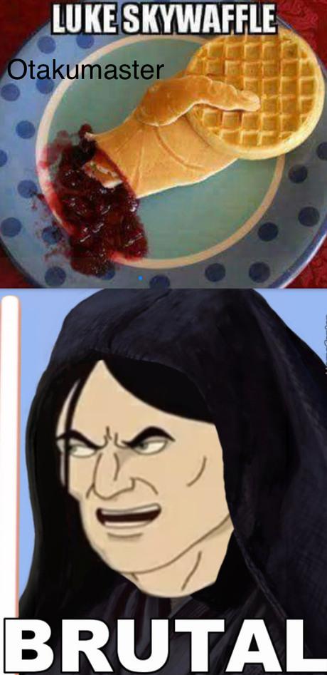 Brutal, imagen de waffle sacada de insta - meme