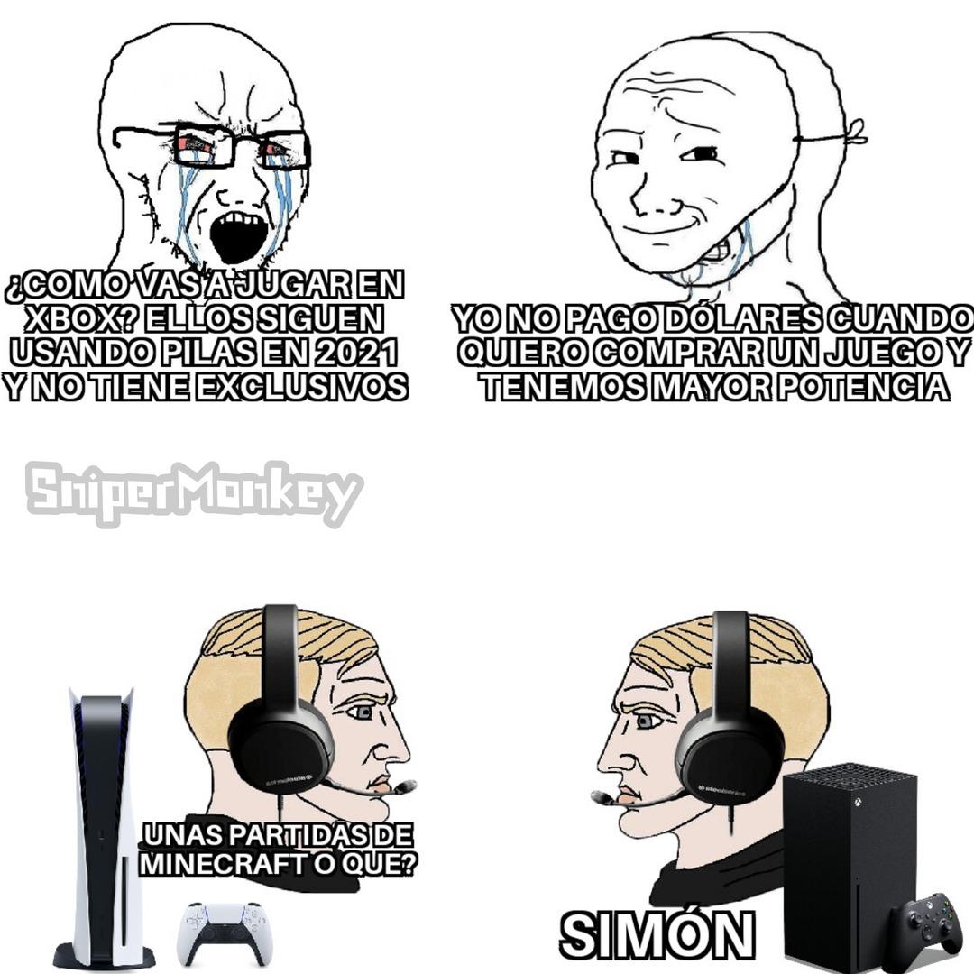 Solo pendejos con falta de atencion pelean por consolas - meme