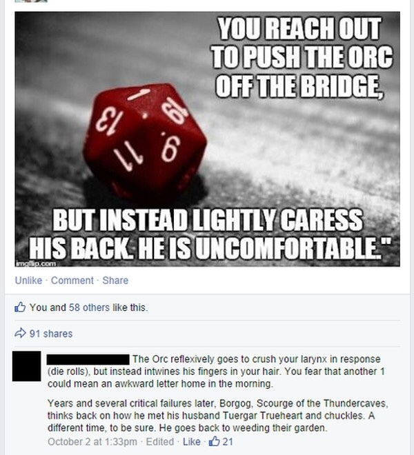 Them Fickle Dice... - meme