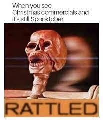 Spoooky scary skelaten - meme
