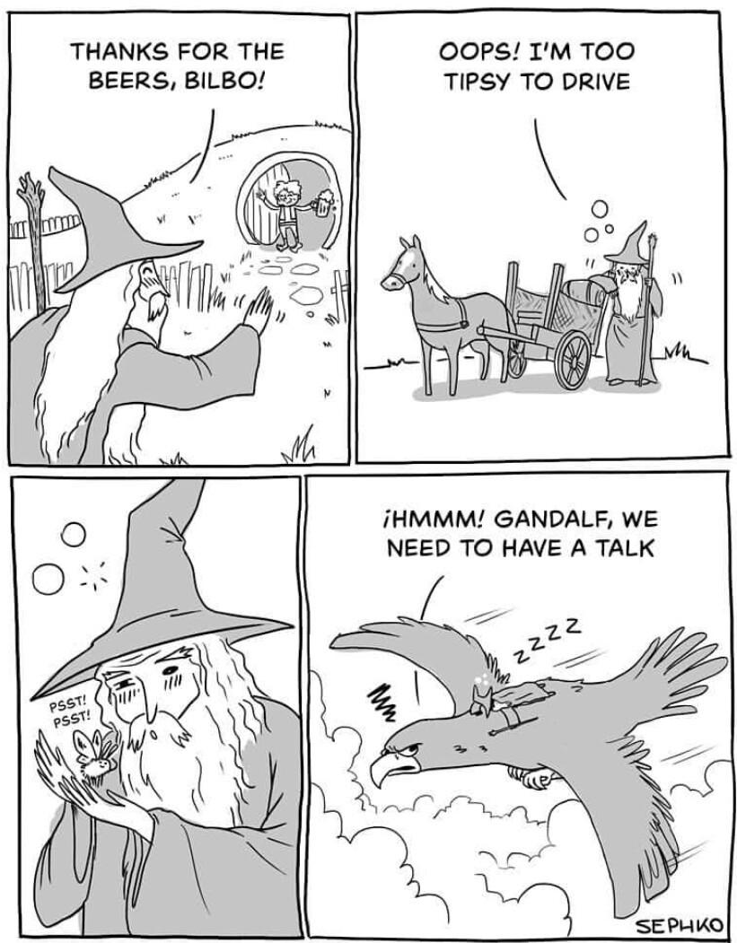 Cê ta doido Gandalf - meme