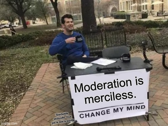 Why moderation - meme