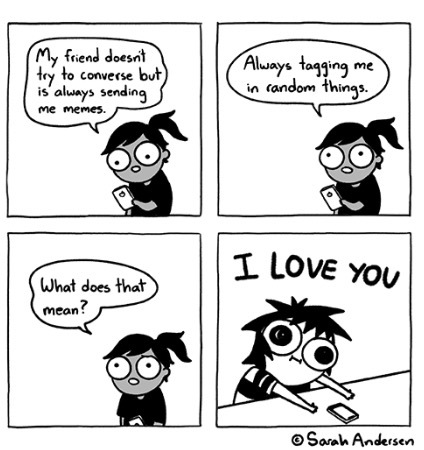 All credit goes to Sarah Andersen - meme