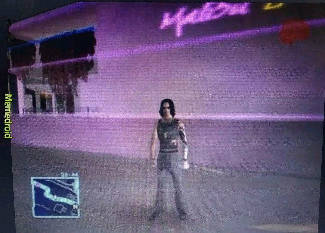 Cyberpunk2077 rodando lisinho no meu PS4 slim - meme