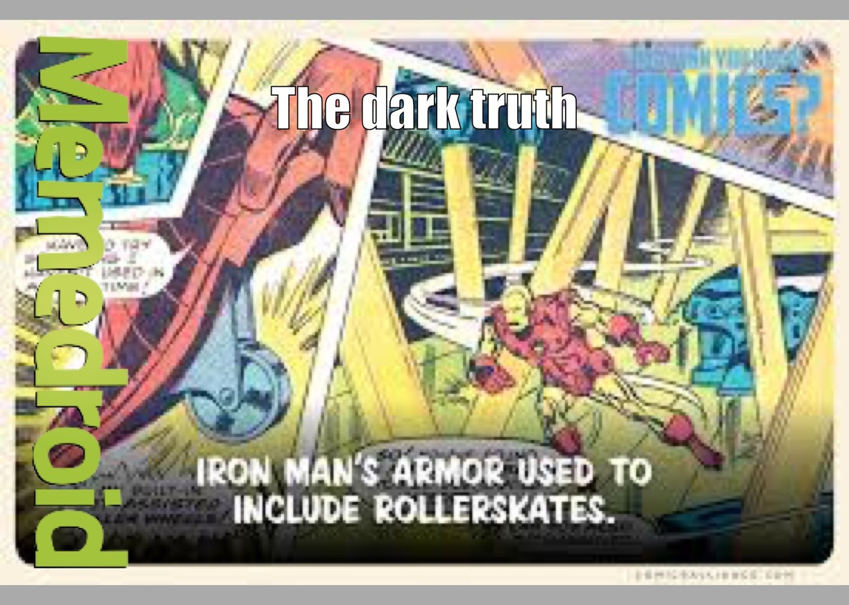 iron man's sad truth - meme