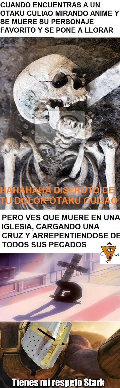 Esqueleto cristiano - meme