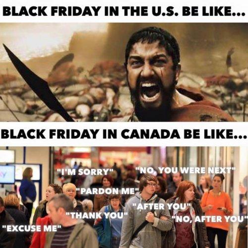America vs Canada - meme